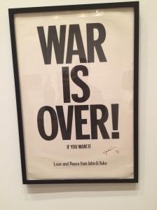 War is Over pop art